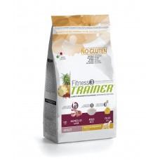 Корм Trainer Fitness3 Super Premium Adult Medium&Maxi With Lamb - Rice — Oil (Трейнер Фітнес3 Супер Преміум Едалт Мідіум енд Максі з Ягнятиною, Рисом та Олією) 12.5 кг