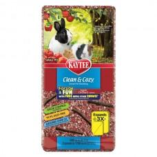 Подстилка Kaytee Clean&Cozy Apple для грызунов, целлюлоза, с палочками для грызения в подарок, красная 8,2л