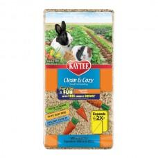 Подстилка Kaytee Clean&Cozy Vegetable Garden для грызунов, целлюлоза, с игрушкой для грызения в подарок,