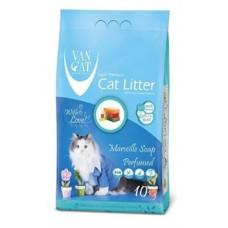 Наполнитель  Van cat  бентонитовый с ароматом марсельского мыла 10 кг