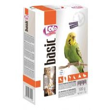 Корм LoLo Pets basic for BUDGIE для хвилястих папуг 0,5 кг.