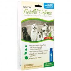 Sentry Natural Defense СЕНТРИ НАТУРАЛЬНАЯ ЗАЩИТА капли от блох и клещей для собак и щенков , 1,5 мл, 6 шт/уп. (цена за пипетку) л.