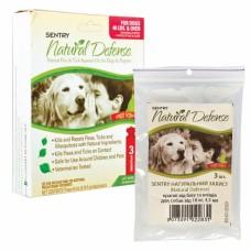 SENTRY НАТУРАЛЬНАЯ ЗАЩИТА (Natural Defense) капли от блох и клещей для собак от 18кг, 4,5м , от 18 кг, 4,5 м, 3шт/уп. (цена за пипетку) л.
