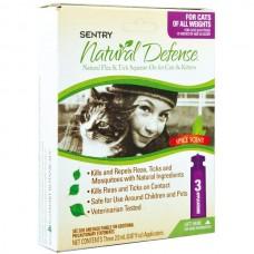 Sentry Natural Defense СЕНТРИ НАТУРАЛЬНАЯ ЗАЩИТА капли от блох и клещей для кошек всех пород и котят , 2 мл, цена за пипетку л.