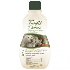 Sentry Natural Defense Dog СЕНТРИ НАТУРАЛЬНАЯ ЗАЩИТА натуральный шампунь от блох и клещей для собак и щенков , 0.473 л.
