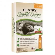 Sentry Natural Defense СЕНТРИ НАТУРАЛЬНАЯ ЗАЩИТА капли от блох и клещей для собак и щенков , 7-18 кг, 3 мл, 4шт/уп. (цена за пипетку) л.