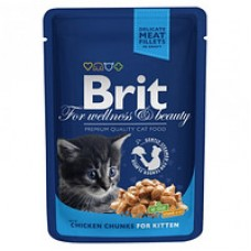 Brit Premium Cat pouch 100 g курица для котят