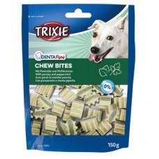 "Лакомство для собак Trixie ""Denta Fun Chew Bites""  с петрушкой и мятой 150 гр"