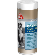 8in1 Excel Brewers Yeast  д/круп. соб. 80таб/300ml