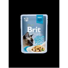 Brit Premium Cat pouch 85 g филе курицы в соусе