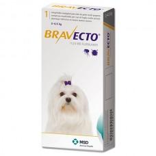 Bravecto БРАВЕКТО таблетка от блох и клещей для собак и щенков, 2-4,5 кг, 112,5 мг