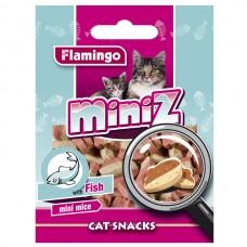 Лакомство Flamingo  MINIZ MINI MICE для кошек в виде мышек со вкусом рыбы
