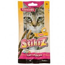 Лакомство Flamingo Stikiz Turkey для кошек и котят со вкусом индейки