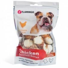Лакомство Flamingo Knotted Bones для собак кость с узлами, курица