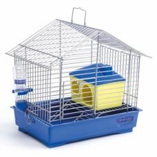 """Клетка для грызунов """"Джунгарик"""" ХРОМ с домиком  Природа (30*20*24) см"""