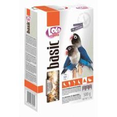 Корм LoLo Pets basic for LOVEBIRDS для неразлучників 0,5 кг.