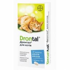 Антигельминтные таблетки Drontal Bayer для кошек 1 таб.