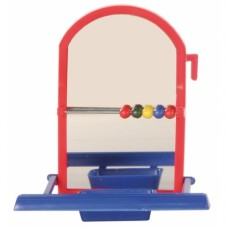 Игрушка для птиц Trixie Зеркало с кормушкой 8,5 см