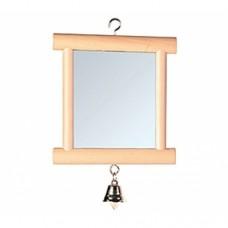 Игрушка Trixie для птиц зеркало с колок. дерев. 9*10см