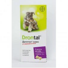 Антигельминтик Bayer Drontal plus для собак со вкусом мяса  1 таб