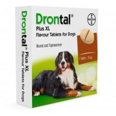 Антигельминтные таблетки Bayer Drontal ПЛЮС XL для собак  со вкусом МЯСА 1 табл