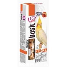 Лакомства LoLo Pets колосок для средних попугаев с фруктами 90 г.